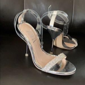 Zara High heel sandals with crystals.